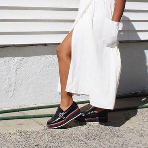 Zara Derby Platform Paten Leather Oxford Loafers